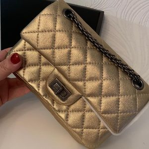 Chanel Gold 2.55 Reissue Mini Bag